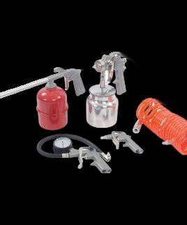 Perslucht Compressor Accessoire Set Silverline